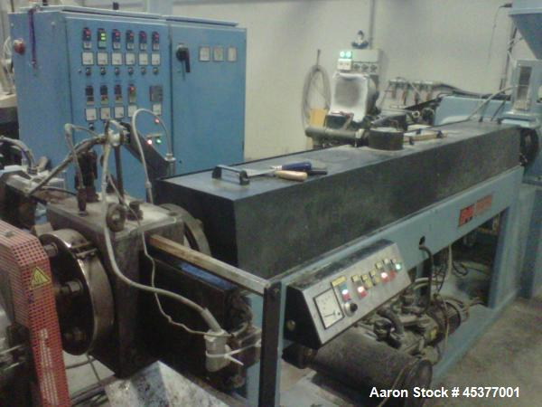 "Used- OMP Prealpina 3.35"" (85 mm.) Single Screw Extruder"