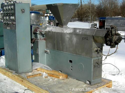 "Used- Prodex 2.5"" Single Screw Extruder, Model 17C-24, Approximate 24:1 L/D ratio. Electrically heated, air cooled 4 zone no..."