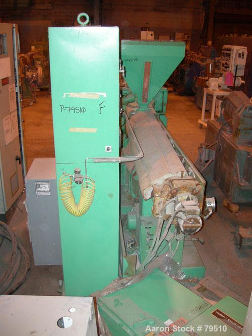 "Used- Prodex Extruder, 2 1/2"" diameter, 30:1 L/D Ratio, Model TM2535U-30. Electrically heated and water cooled barrel. Side ..."