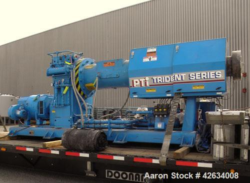 """Used- PTI 10"""" Trident Series Single Screw Extruder, Model 10000. Approximate 10 to 1 L/D ratio. 3 Zone electrically heated, ..."""
