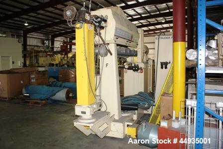 """Used- PTI 2.5"""" Diameter Single Screw Extruder, Model 2500.  Approximately 30 to 1 L/D ratio.  Electrically heated, air coole..."""