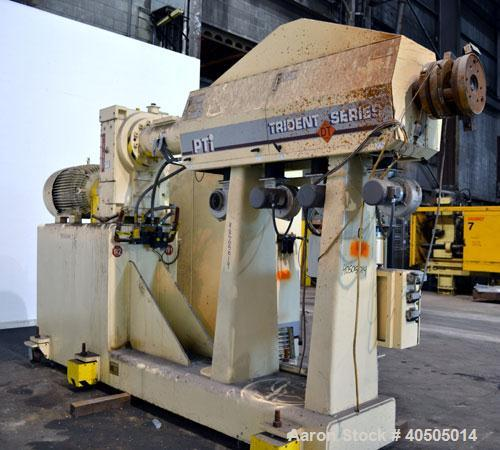 """Used- PTI Processing Technologies 3-1/2"""" Trident Series Single Screw Extruder"""