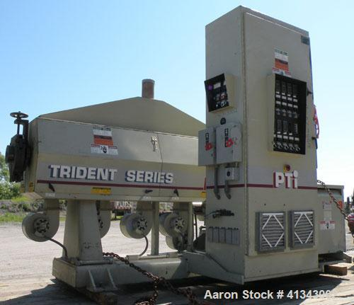 """Used- PTI 3.5"""" Trident Series Single Screw Extruder, Model 3500. 30 to 1 L/D ratio. Barrel measures 107"""" from back of feed t..."""