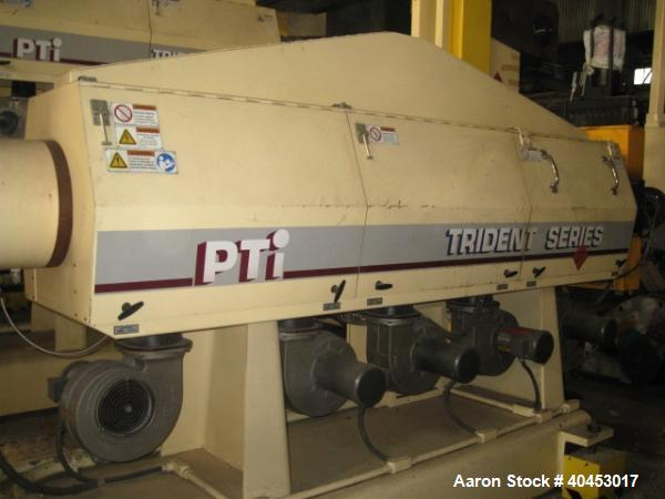 "Used- PTI model 5000 Trident series 5"", 28:1 extruder having a 5-zone electrically heated, air cooled barrel at approximatel..."
