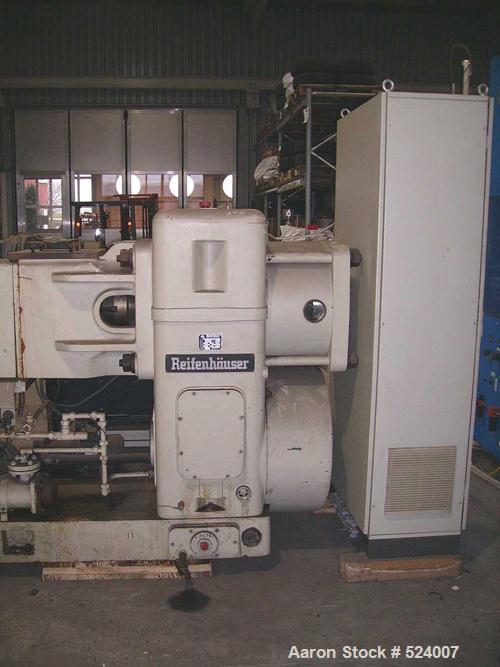 "USED: Reifenhaeuser 5.9"" extruder 30D, type RH4299-1-150-30WE. Screwdiameter 150 mm, driven by a 200 hp (315 kW) motor, max ..."