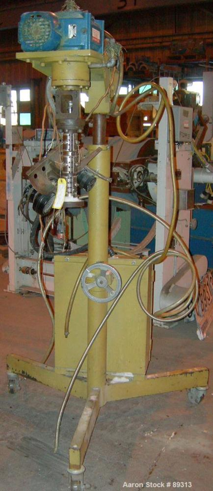 """Used- Royal Machine 1.25"""" Pedestal Mounted Single Screw Extruder, Model 252.25, approximate 15:1 L/D ratio. Electrically hea..."""