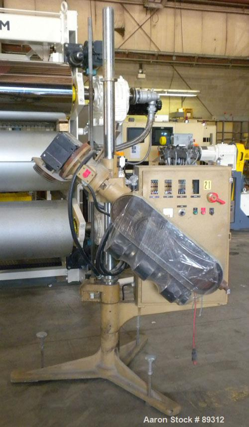"""Used- Royal Machine 1.25"""" Parts Machine Pedestal Mounted Single Screw Extruder, Model 253. Approximate 24:1 L/D ratio, elect..."""