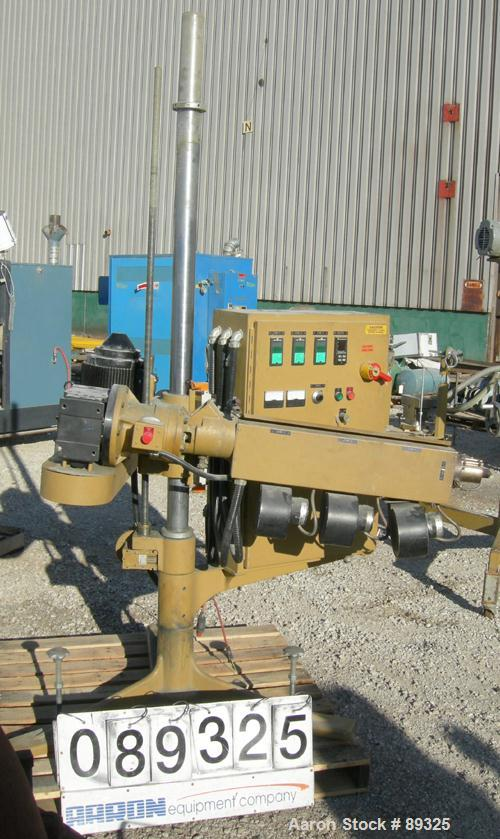 """USED: Royal Machine 1.25"""" pedestal mounted single screw extruder, model 253. Approximate 24:1 L/D ratio, electrically heated..."""