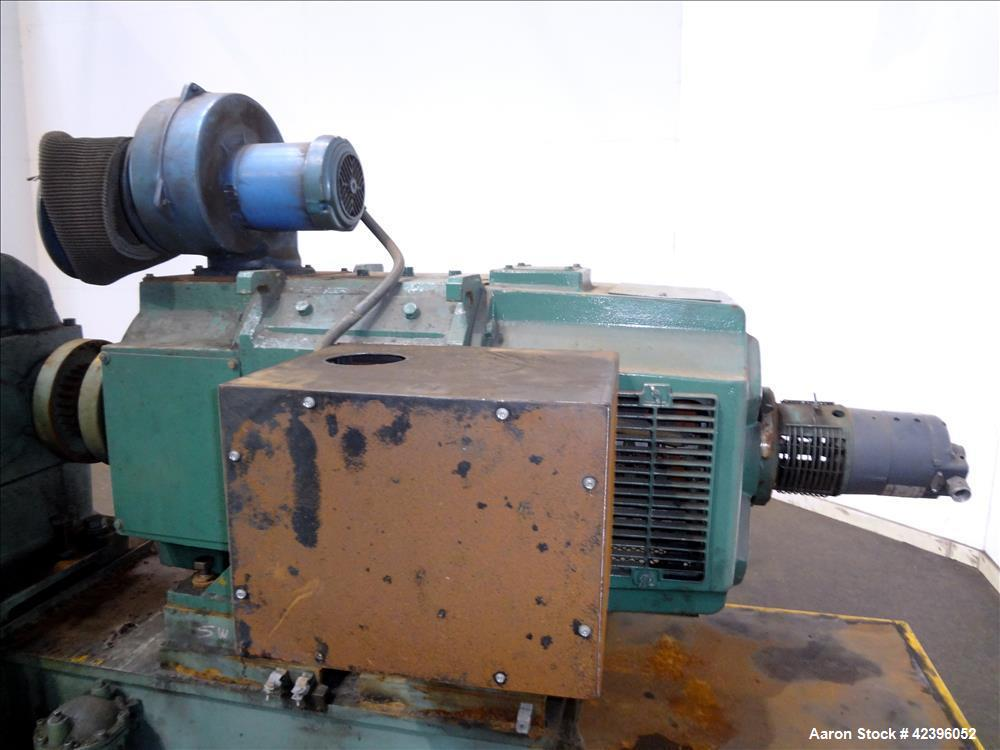 """Used- Sterling 6"""" extruder, 32:1 L/D, electrically heated, water cooled barrel with circulation system, jacketed feed sectio..."""