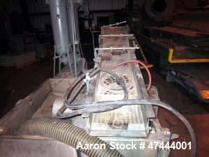 """Used- Sterling Single Screw Extruder. 8"""" screw diameter. 38:1 L/D ratio, vented, water cooled. 700 hp DC motor, direct drive..."""