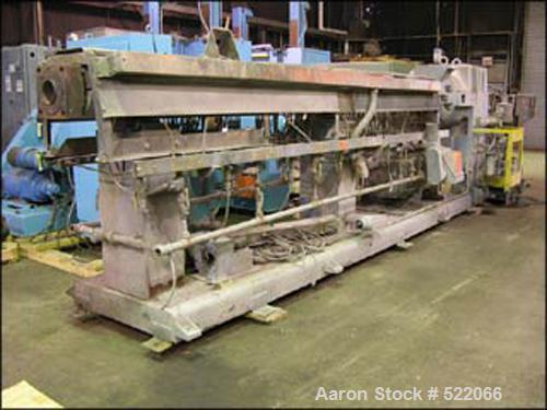 """USED: 4.5"""" Sterling extruder, 40:1 L/D, electrically heated, water cooled, jacketed feed, vented barrel, 400 hp DC motor wit..."""