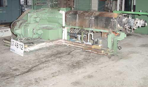 """USED: Sterling 3-1/2"""" single screw extruder, 24:1 L/D ratio. 5 zone barrel electrically heated, water cooled, with system in..."""