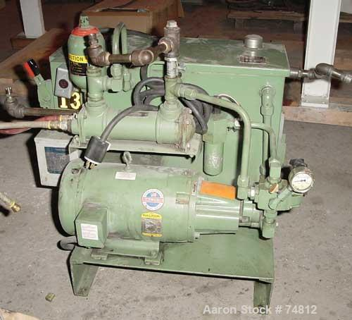 "USED: Sterling 3-1/2"" single screw extruder, 24:1 L/D ratio. 5 zone barrel electrically heated, water cooled, with system in..."