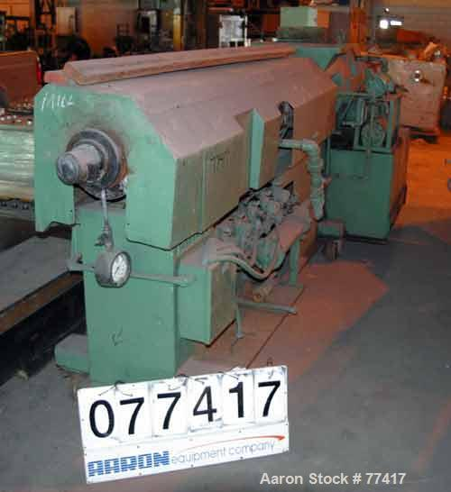 "USED: Sterling 4-1/2"" single screw extruder, 24:1 L/D ratio. Vented barrel, electrically heated, water cooled, with tank and..."