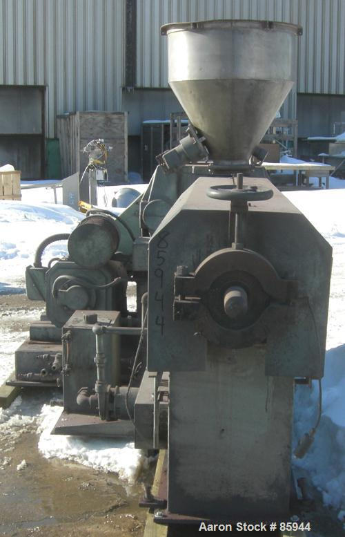 """Used- Sterling 3.5"""" Single Screw Extruder, Approximate 27:1 L/D ratio. Electrically heated, water cooled, 4 zone side vented..."""