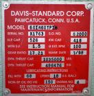 "Used- Davis Standard 6"" Single Screw Extruder, Model 60IN60TPIH. Approximate 24 to 1 L/D ratio. Electrically heated, water c..."