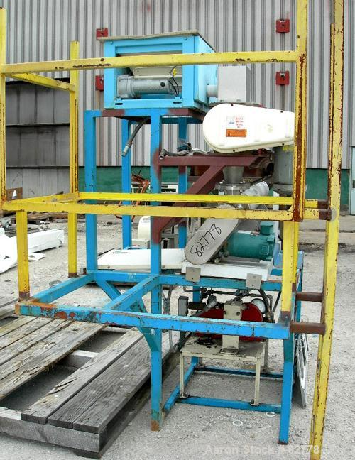 "USED: Union Carbide single screw extruder system consisting of (1) Union Carbide approximate 3"" extruder, 304 stainless stee..."