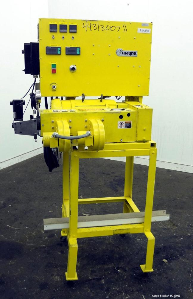 """Used- Wayne Machine & Die 1"""" Single Screw Extruder, Model Table Top. Approximately 20 to 1 L/D ratio. Electrically heated, a..."""