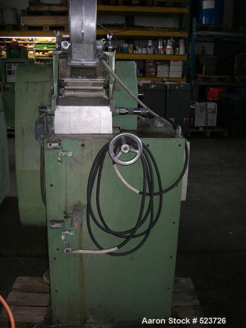 "USED: Weber single screw extruder. Screw diameter 2.36"" (60 mm), spaghetti head with 5 strings, Omron varispeed F7 control p..."
