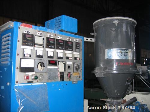 "Used- Welex 2"" Single Screw Extruder, Model 200-24:1"
