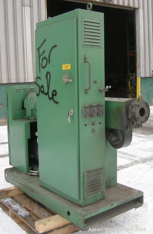 "Used- Welex 2"" Single Screw Extruder, Model 20024:1 R.H. Approximate 24:1 L/D ratio. Electrically heated, air cooled 3 zone ..."