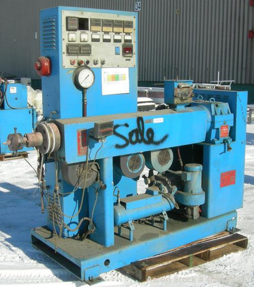 "Used- Welex 2"" Single Screw Extruder, model 2.00AC"