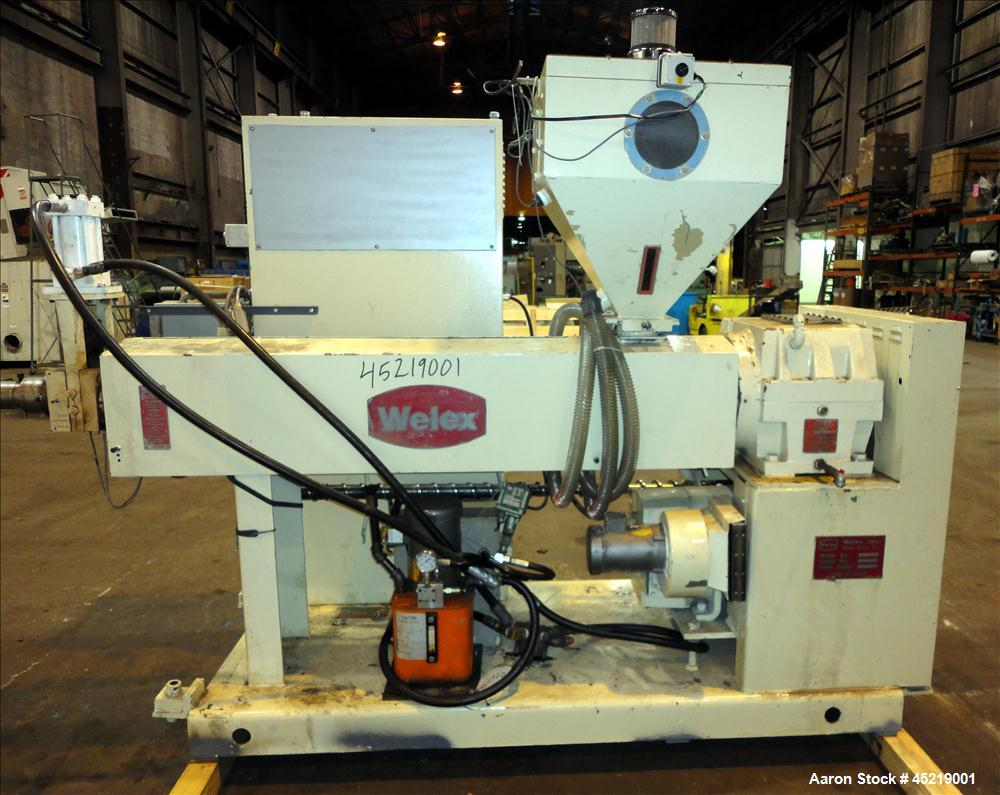 "Used- Welex 2-1/2"" Single Screw Extruder, Model 250 24:1 RH"