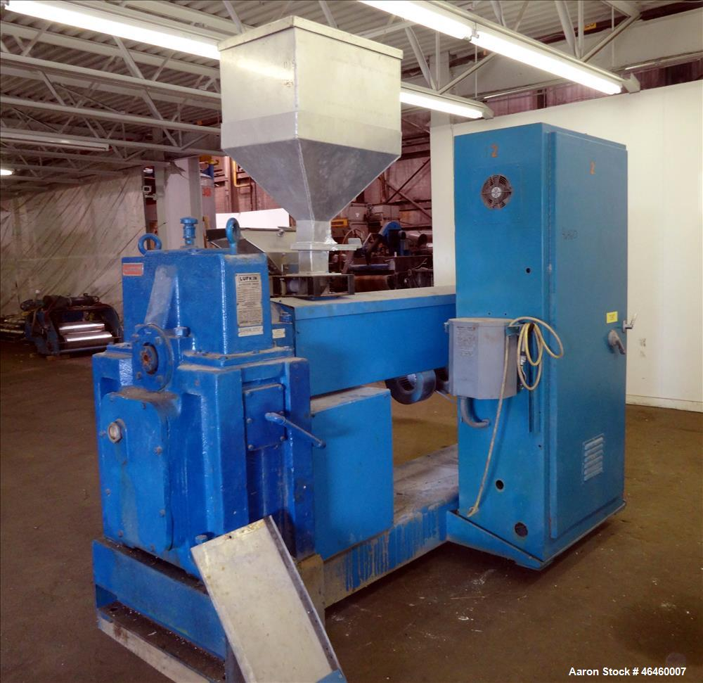 """Used- Welex 2.5"""" Single Screw Extruder, Model 250 30:1 VRH. 30 To 1 L/D ratio, electrically heated, air cooled 4 zone non-ve..."""