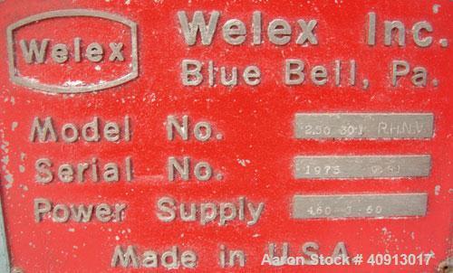 "Used- Welex 2 1/2"" Single Screw Extruder, Model 2.5030:1R.H.N.V."