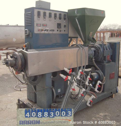 "Used- Welex 2 1/2"" Single Screw Extruder, Model 250, approximately 24 to 1 L/D ratio. Electrically heated, air cooled 3 zone..."