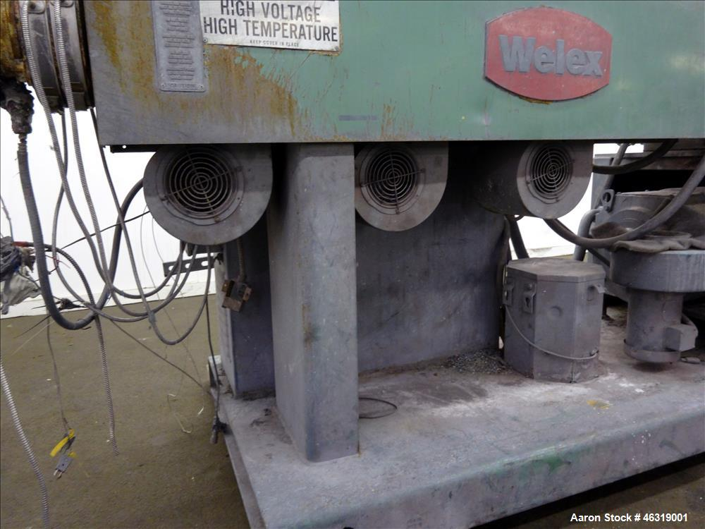 """Used- Welex 2-1/2"""" Single Screw Extruder, Model 2.5A.C. Approximately 24 to 1 L/D ratio. Electrically heated, air cooled 3 z..."""
