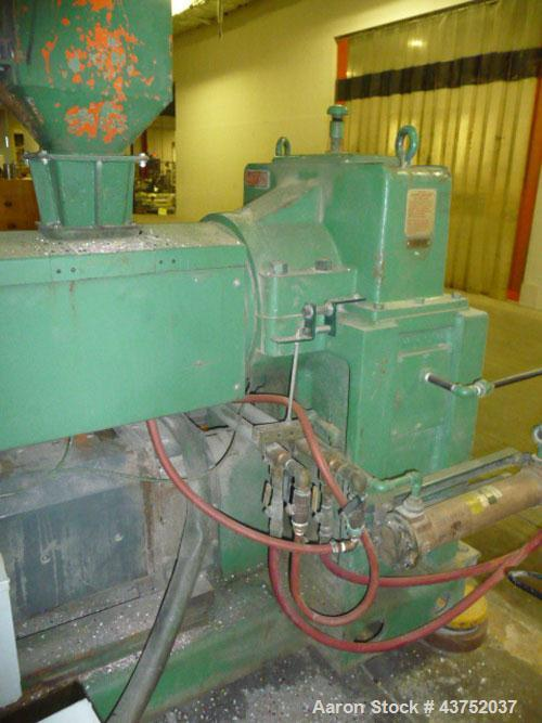 "Used- Welex 3-1/2"" Single Screw Extruder. 30 to 1 L/D ratio. Electrically heated, water cooled non-vented barrel. Driven by ..."