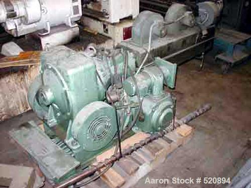 "USED: Welex 2"" extruder. 24:1 L/D, 3 zone non-vented air cooledbarrel. 20 HP DC WER Industrial DC motor driving a Winsmith m..."