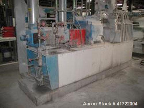 """Used-APV MP2030 Twin Screw Extruder, co-rotating. With 3"""" (77 mm) screw, 16 L/D ratio, screw speed 50-350 rpm, 152 hp (115 k..."""