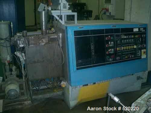 """USED: APV lab size twin screw extruder, 30mm, 15:1 L/D. 1.17"""" diameterx 17.6"""" long (30mm diameter x 450mm long) screws. Scre..."""