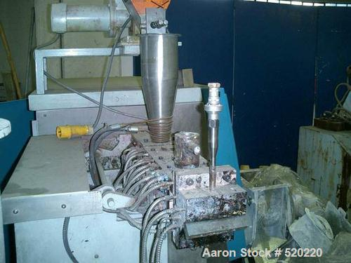 "USED: APV lab size twin screw extruder, 30mm, 15:1 L/D. 1.17"" diameterx 17.6"" long (30mm diameter x 450mm long) screws. Scre..."