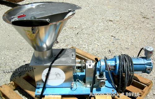 USED- Baker Perkins Twin Screw Extruder, 50 MM Screw Diameter, Model MP2050. Approximate 25:1 L/D ratio. Co-rotating screw d...