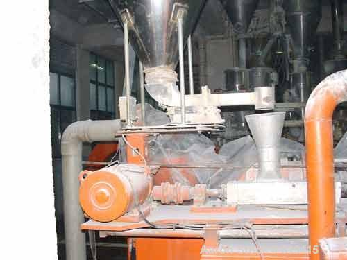 "USED: Baker Perkins twin screw extruder, type MPC/V 80. 16:1 L/D,1.9"" (50mm) diameter x 31.2"" (800mm) long co-rotating screw..."