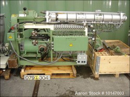 "Used-Berstorff double screw extruder, model ZE-40 A x 38D, serial No. 90-2-EO. 5486/84, new 1985, screw diameter 40mm (1.6"")..."