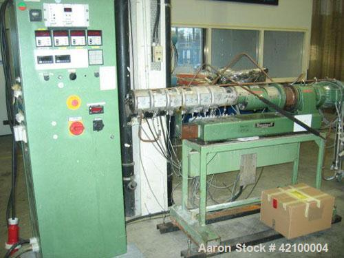Used- Berstoff Lab Size Twin Screw Extruder, type ZE-25-35D, 30 mm diameter screws, 35:1 L/D, co-rotating, 6 heating zones, ...