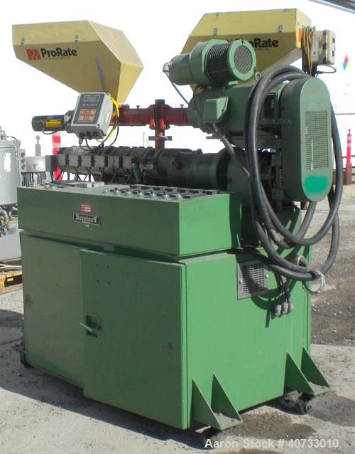 Used- Berstorff 25mm Twin Screw Extruder, Model ZE25, Co-Rotating Side by Side Screw Design. Approximate 28 to 1 L/D ratio. ...