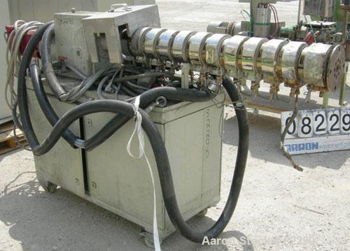 USED- Berstorff Lab Size Twin Screw Extruder, Type ZE25. 25 mm screws. 33:1 L/D. Side by side, co-rotating, 11 barrel sectio...