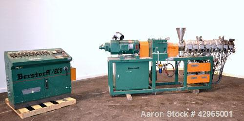 Used- Berstorff 40mm Twin Screw Extruder, Type ZE40A, Co-Rotating Intermeshing Side By Side Screw Design. Approximate 36 to ...