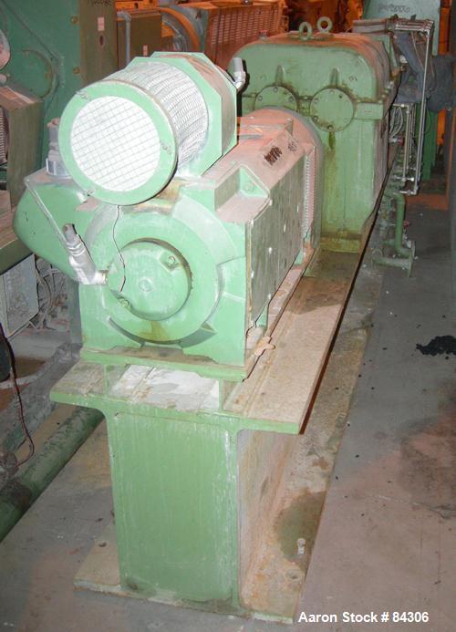 Used- Berstorff twin screw extruder, model ZE60