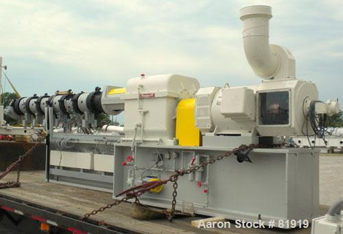 Used- Berstorff Twin Screw Extrusion System consisting of: (1) Berstorff 60 mm twin screw extruder, model ZE60A35, approxima...