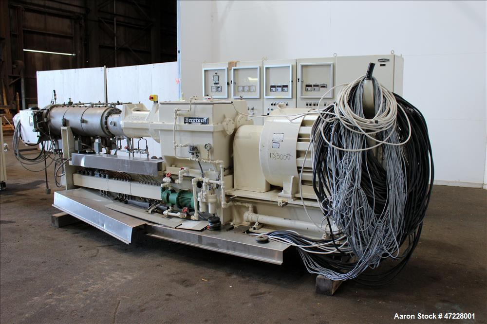 Used- Bersorff Co Rotating Twin Scerw, Model ZE75A. Serial number 0190/87. Inclu