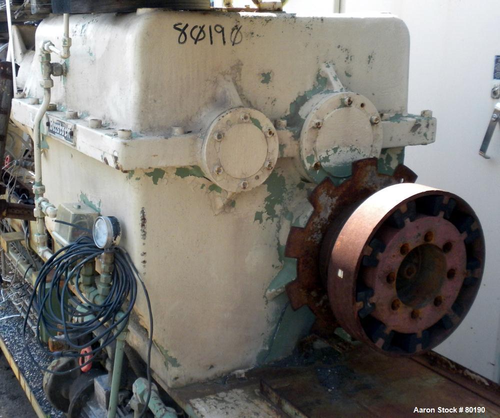 Used- Berstorff 75mm Twin Screw Extruder, Model ZE75A