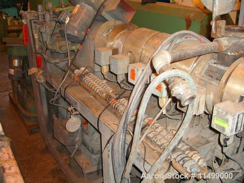 Unused-Used: Berstorff Model ZE 40 Co-Rotating Twin Extruder, 40 mm screw diameter, co-rotating Intermeshing screws having a...