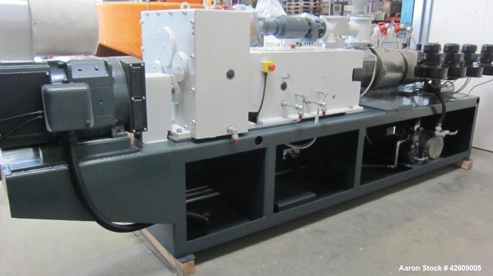 Used- Cincinnati CM80 Conical Twin Screw Extruder for production of PVC Profiles