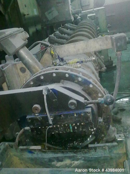 Used-Clextral Evolum HU 88 Co-Rotating Twin Screw Extruder. L/D 44:1, maximum capacity 1550 lbs (700 kilos/h). Screw diamete...